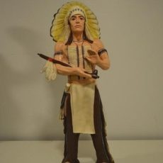 Intiaanipatsas, Sioux päällikkö, kuvattu edestä