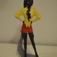 Naismallipatsas, keltaisessa paidassa