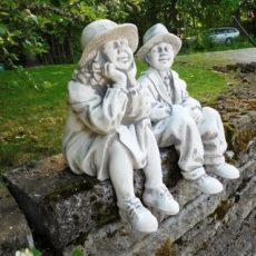 Matti ja Maija patsaat, betonipatsaat