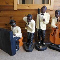 Jazz bändi patsas, miehet