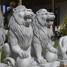 Leijonapatsaat, Betonipatsaat, tassut pallolla