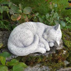Kissapatsas, betonipatsas, nukkumassa