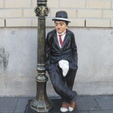 Chaplin valaisin, pyöreällä kuvulla