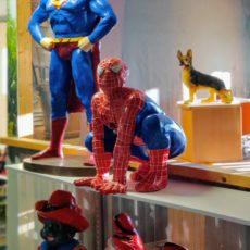 Hämähäkkimies patsas, spiderman