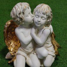 Enkelipatsas, tyttö ja poika, valko-kulta