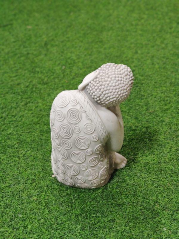 Buddhapatsas, pieni, amitabha, kuvattu takaapäin