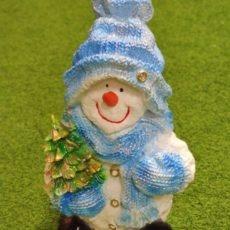 Lumiukkopatsas ja kuusi, sininen