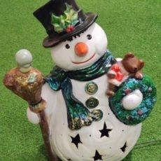 Lumiukko valaisinpatsas